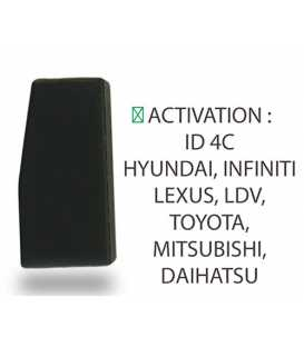 TOY41 - Coque compatible Toyota 4 boutons