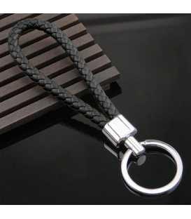 Porte clés Tresse Noir