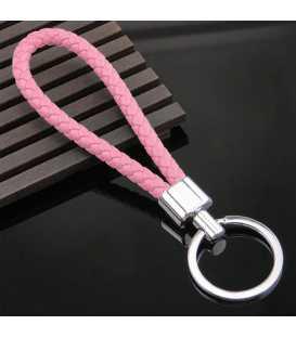 Porte clés Tresse Rose