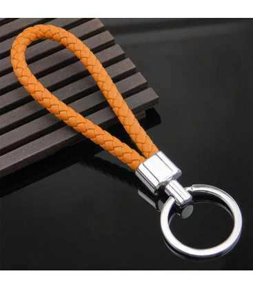 Porte clés Tresse Orange