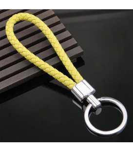 Porte clés Tresse Jaune