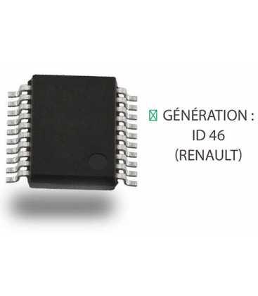 PCF7946AT : Transpondeur génération ID 46 Renault