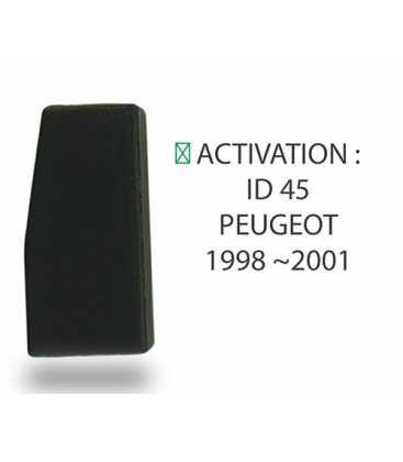 Transpondeur ID45 Peugeotl 98-2001 (Silca T29)