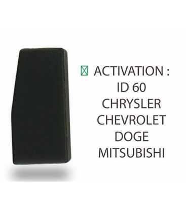 Transpondeur activation ID 60 Chevrolet, Chrysler, Doge, Mitsubishi