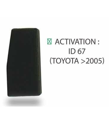 Transpondeur activation ID 67 Toyota après 2005