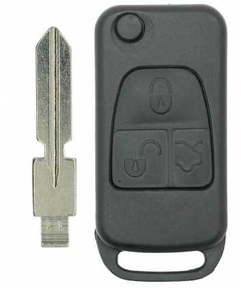 Coque + lame compatible Mercedes 3 boutons