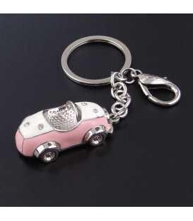 Porte clés Auto Rétro Rose