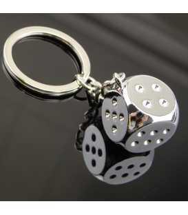 Porte clés Métal Dé argent