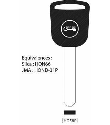 HD58P - Clé à transpondeur