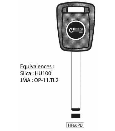 HF66PD - Clé à transpondeur