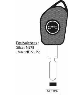 Clé à transpondeur profil type NE78