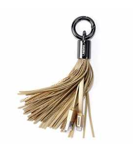 Porte clé chargeur Pompon Gold USB vers LIGHTNING