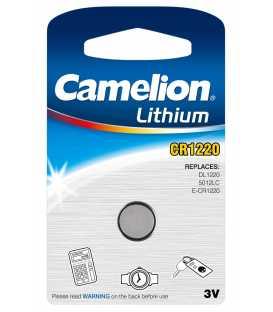 CR1220 Pile Lithium 3V - Boite de 10 blisters individuels