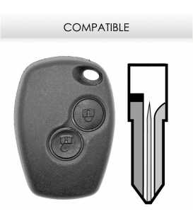 Télécommande compatible Renault Dacia Sandero, Logan, Duster avant 20102