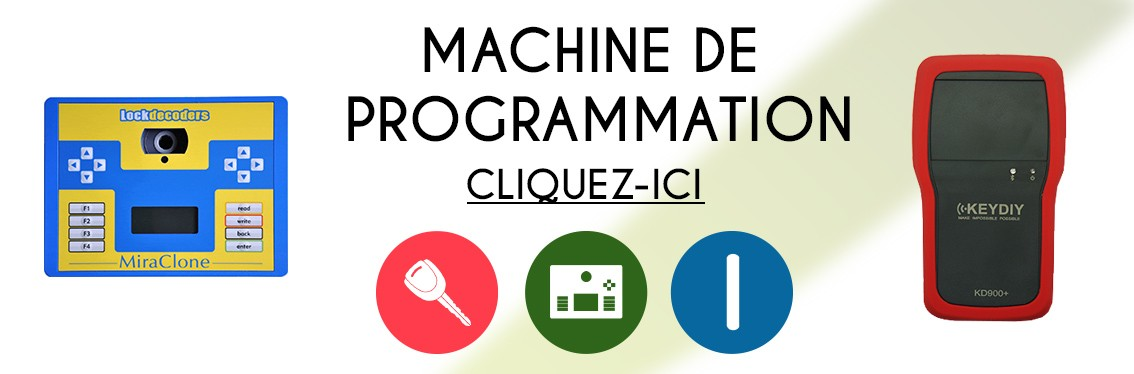 Machine de programmation clonage transpondeur telecommande